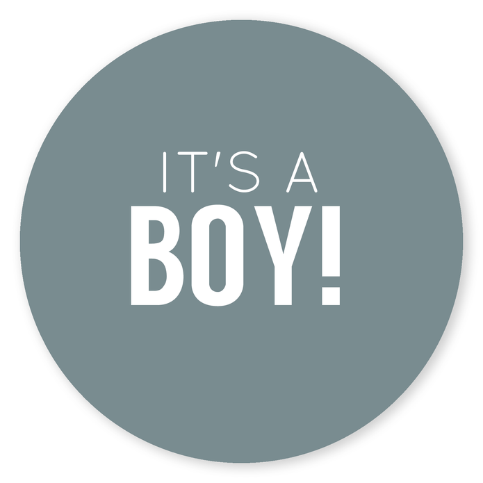 Sluitsticker It's a boy voor