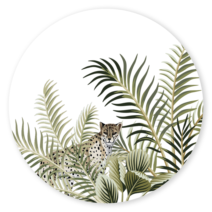 Sluitsticker panter jungle voor