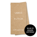 9 x 17 cm labels kraft look 3