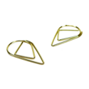 Druppel paperclips goud