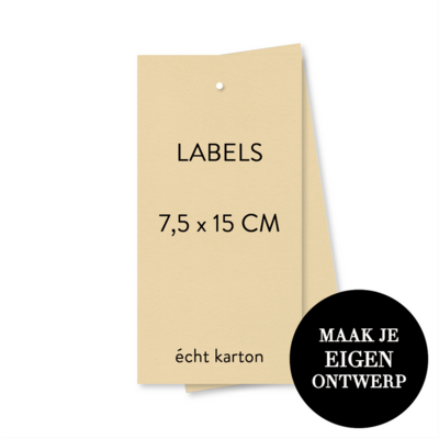 7,5 x 15 cm Labels - naturel karton