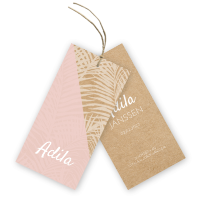 geboortekaartje-labels-kraft-labels-palm-bladeren-adila