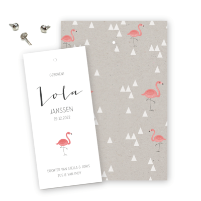 geboortekaartjes-splitpen-label-flamingo-lola